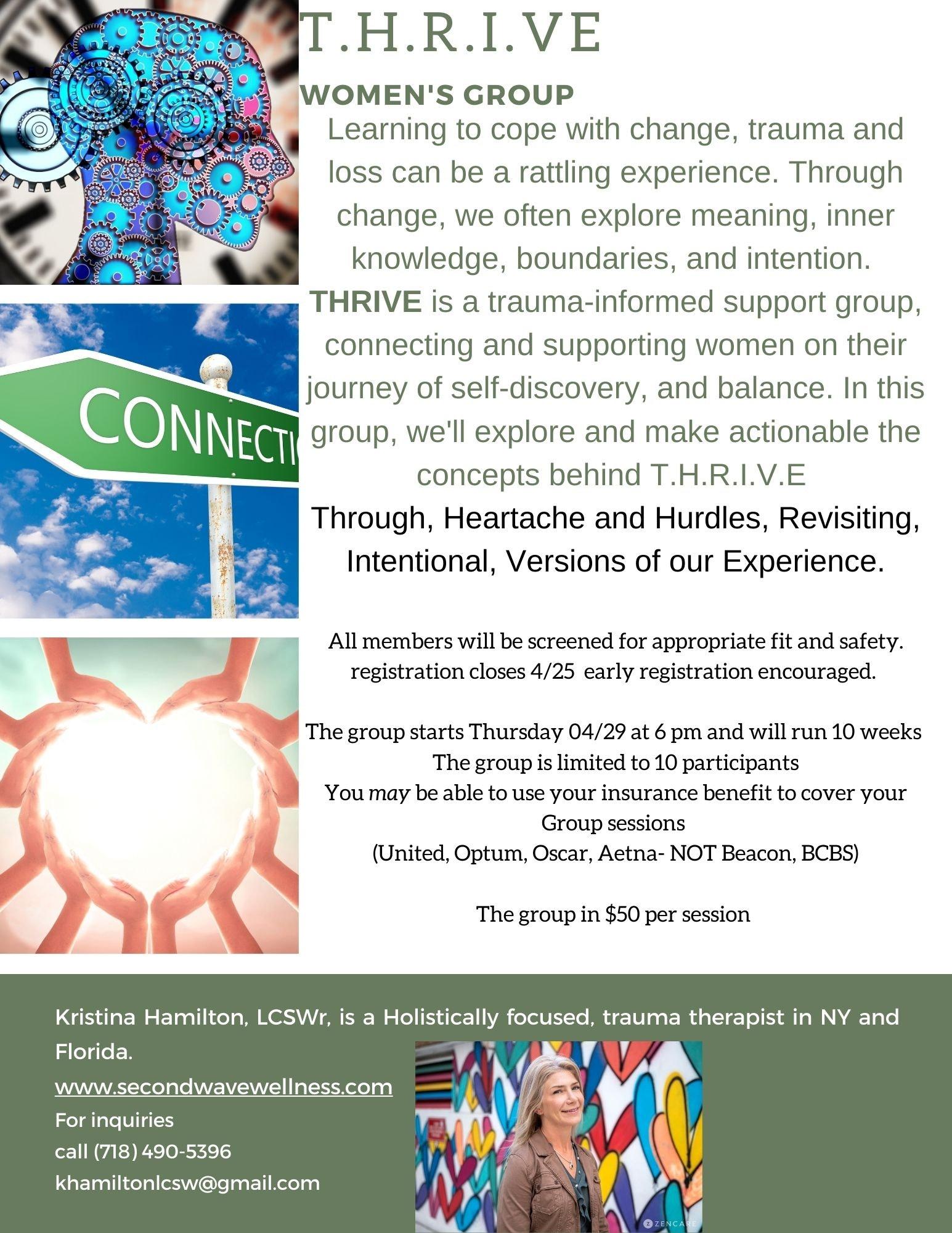 T.H.R.I.V.E  Trauma informed Women's Group