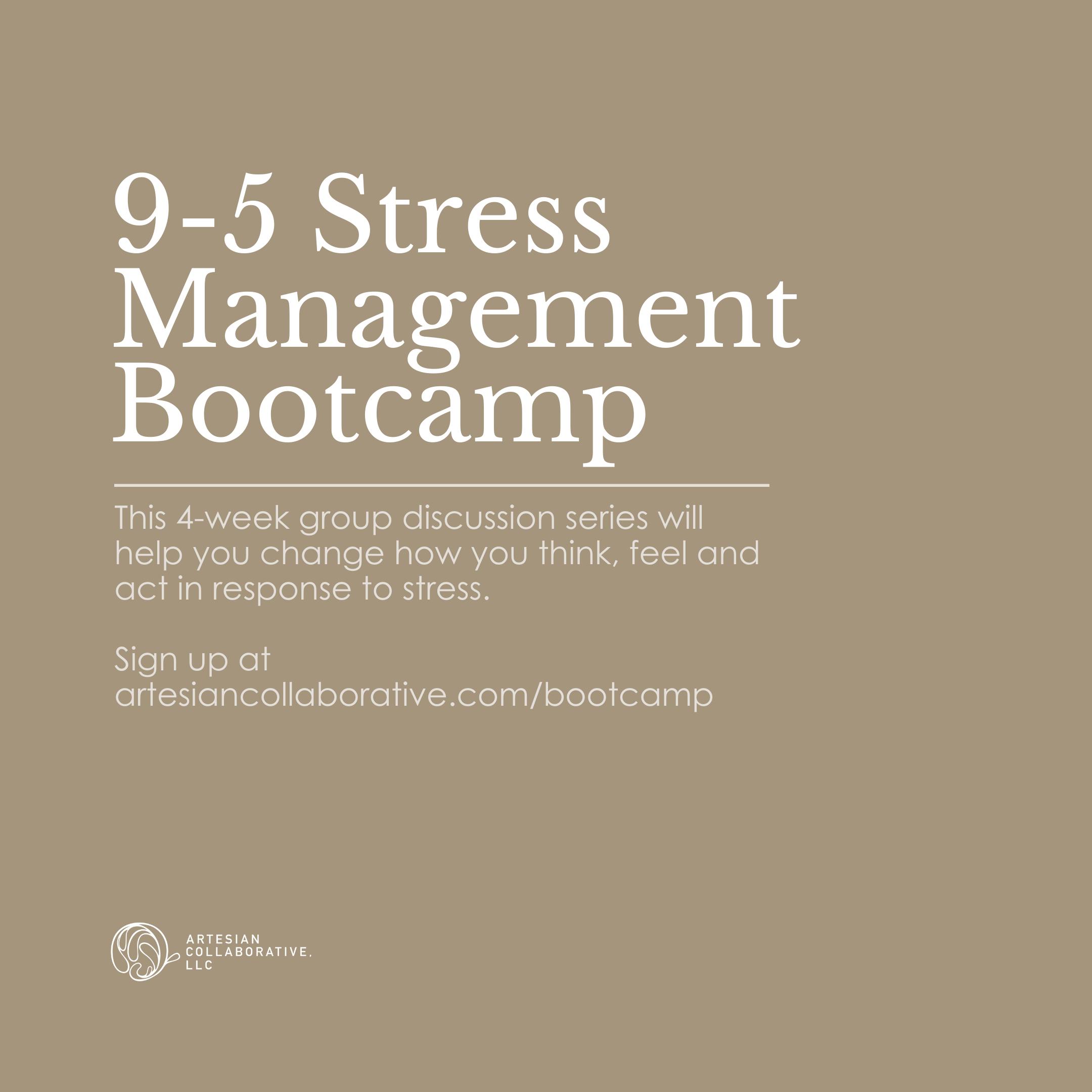 Surviving the  9-5 Stress Management Bootcamp