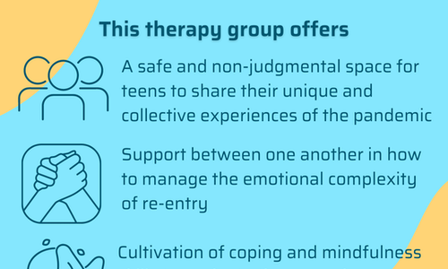 Social Re-entry and Collective Healing for Teens Virtual Group Therapy